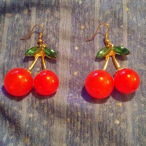 Cherry earrings - never worn